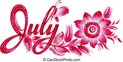 mois, juillet, nom