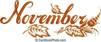 mois, novembre, nom