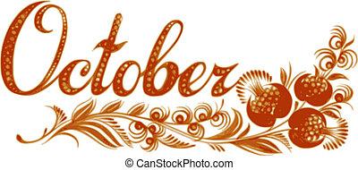 mois, octobre, nom