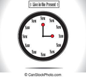 moment, concept, montre, présent, horloge