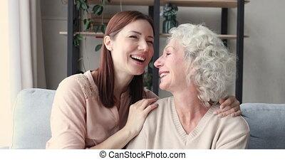 moment., générations famille, différent, affectueux, doux, tendre, apprécier