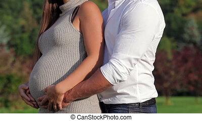 moments, couple, romantique, pregnant