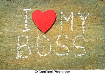 mon, amour, patron, texte