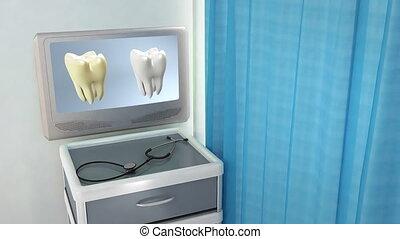 monde médical, écran, comparer, dent