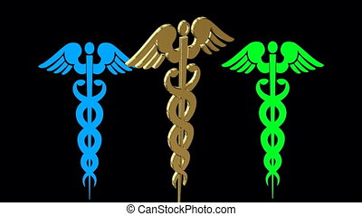 monde médical, animation, symbole