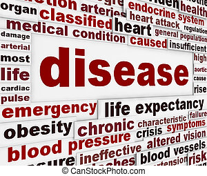 monde médical, avertissement, message, fond, maladie