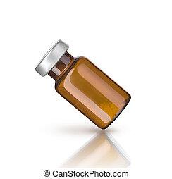 monde médical, blanc, bouteille, isolé