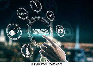 monde médical, créatif, interface