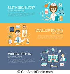 monde médical, ensemble, bannière