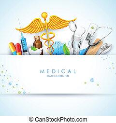 monde médical, fond, healthcare