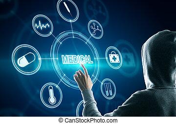 monde médical, interface, créatif