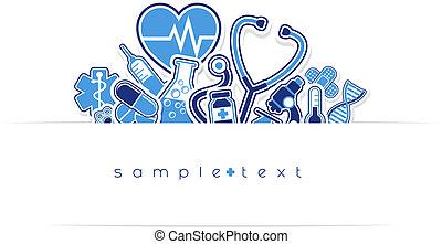monde médical, lande, conception, soin