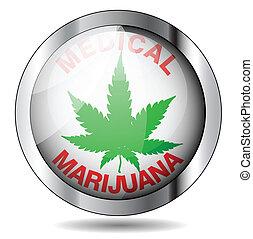 monde médical, marijuana, icône