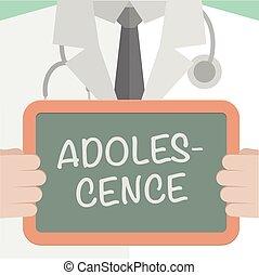 monde médical, planche, adolescence