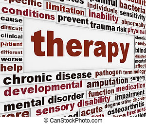 monde médical, thérapie, fond, créatif