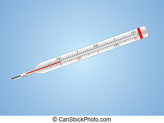 monde médical, vecteur, isolé, thermomètre