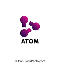 monde science, sentier, atome, logo, graphique, icône, conception
