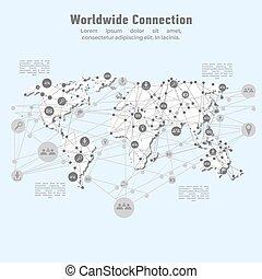 mondial, réseau, connection.