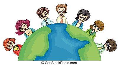 mondiale, autour de, professionnels