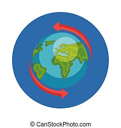 mondiale, circulaire, la terre, planète, cadre