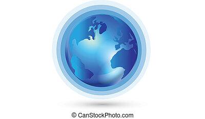 mondiale, connexion, global, logo
