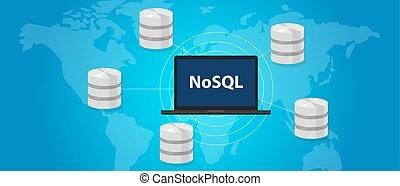 mondiale, distribution, base données, large, nosql, relational, non, concept