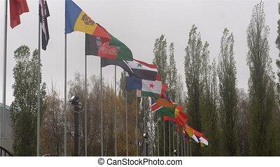 mondiale, drapeaux