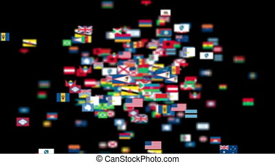 mondiale, drapeaux vol