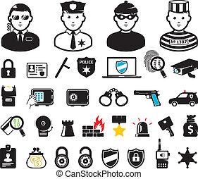 mondiale, ensemble, crime, symboles