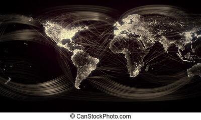 mondiale, géré réseau, seamless, or, boucle