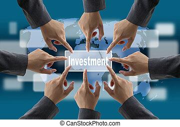 mondiale, investissement, business