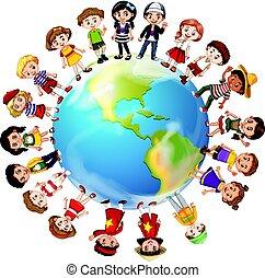 mondiale, pays, autour de, beaucoup, enfants