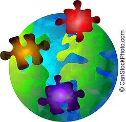 mondiale, puzzle