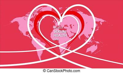 mondiale, sexuel, fond, jour, santé, cœurs