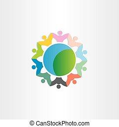 mondiale, symbole, autour de, gens