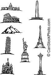 mondiale, taches, monument