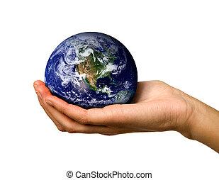 mondiale, tenant main