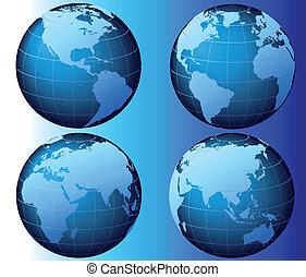 mondiale, vecteur, -