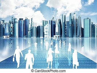 mondiale, virtuel, professionnels