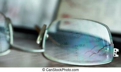monitor., reflet, informatique, stockage, données, marché, lunettes