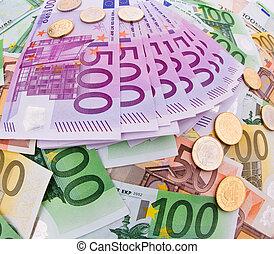 monnaie, euro, collage