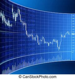 monnaie, graphique, commerce, forex
