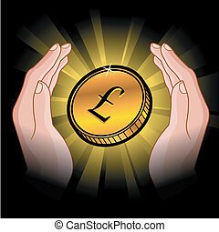 monnaie, mains