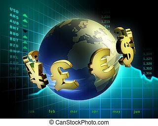 monnaie, mondiale