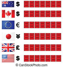 monnaie, taux, planche