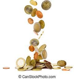 monnaies tombantes, euro