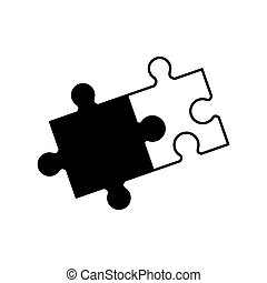 monochrome, collaboration, puzzle, solution