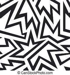 monochrome, seamless, schéma feuillage