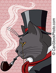 monsieur, chat
