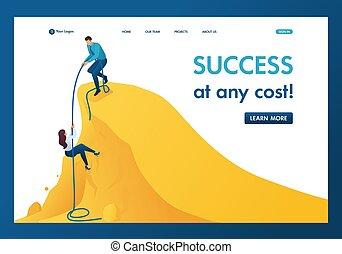 montée, aide, success., page, accomplissement, atterrissage, mentor, sentier, gabarit, but, isométrique